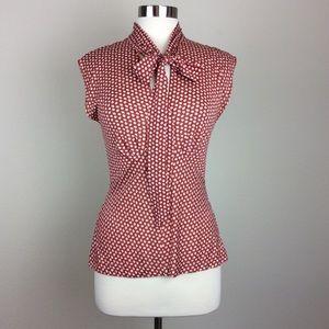 Dianne von Furstenberg bow neck blouse